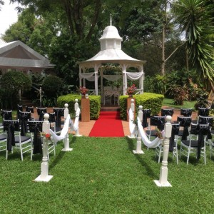 Ceremony Black Chairs