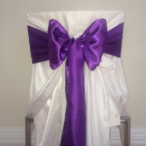 purple bows for chair decorations decor and styling house of laurels maleny sunshine coast