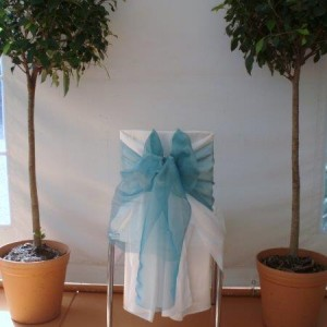 blue bows for chair decorations decor and styling house of laurels maleny sunshine coast